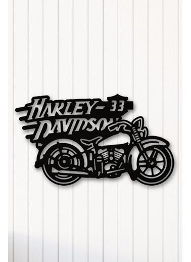 Angemiel Home Harley Motor Metal Duvar Tablosu Siyah